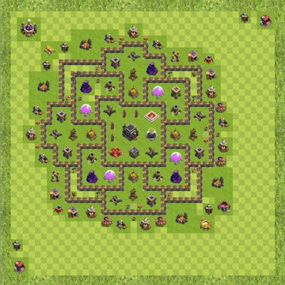 War Base Town Hall Level 9 By Pratik Purkayastha (Snipers TH 9 Layout)