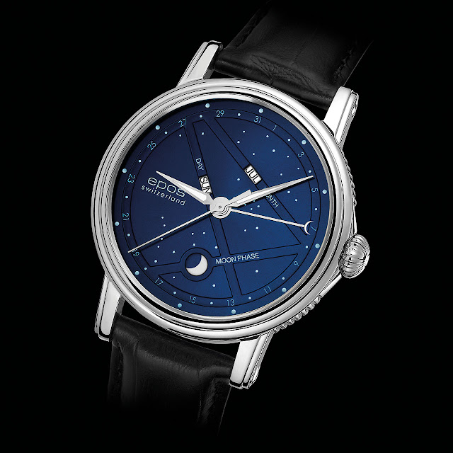 Epos 3391 Blue Stars Mechanical Automatic Watch