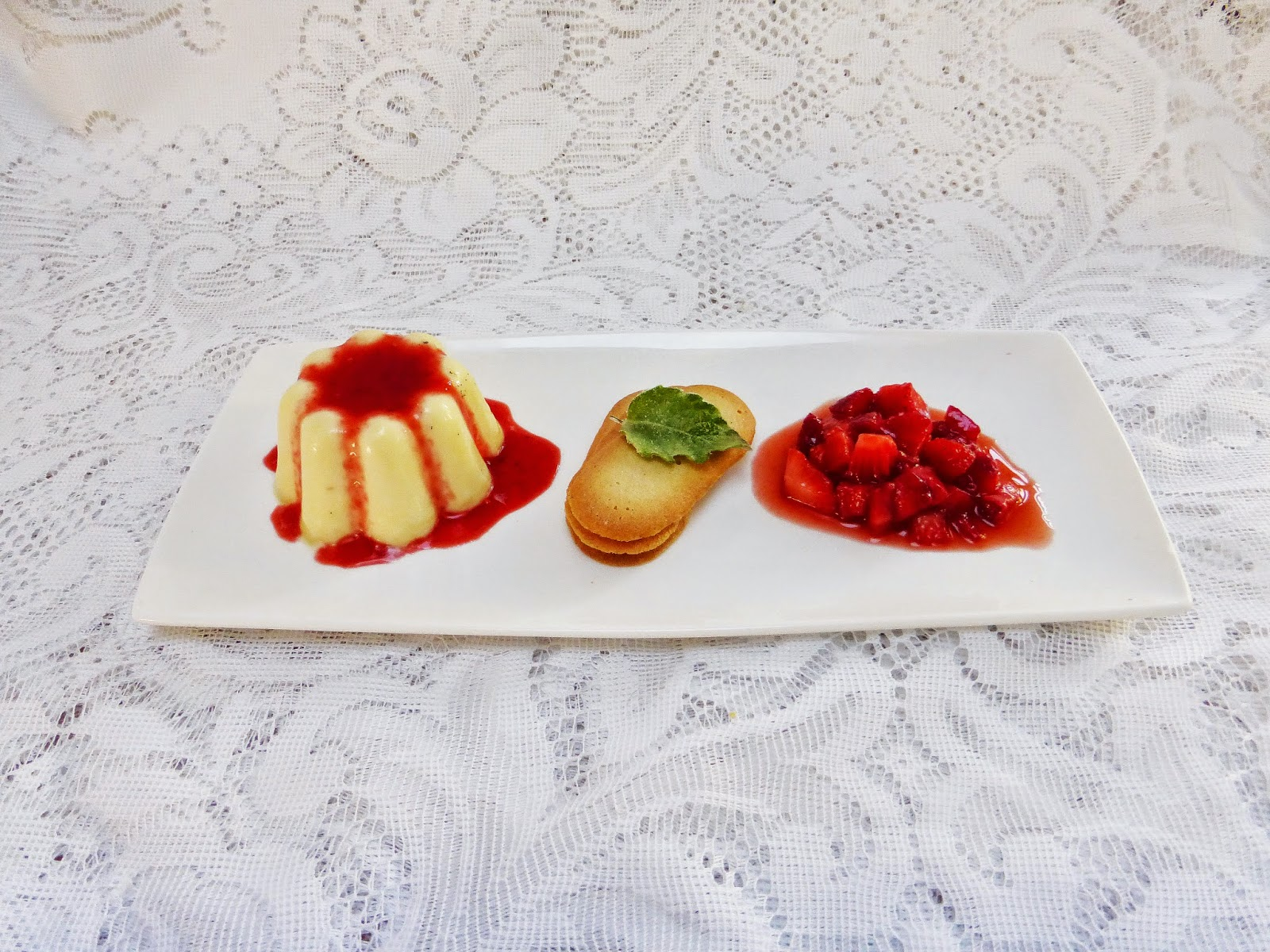 vanilla bean panna cotta with balsamic strawberry salsa. Black Bedroom Furniture Sets. Home Design Ideas