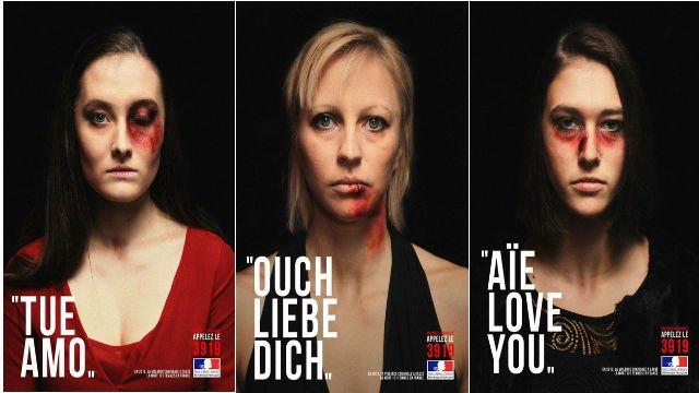 publicité sur la violence conjugale