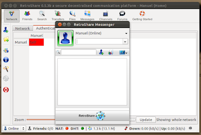 securely chat in Ubuntu using RetroShare
