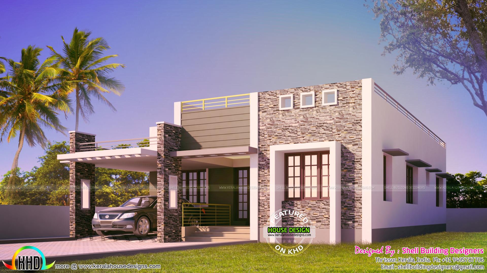 Cute One Floor Low Budget Home Kerala Home Design Bloglovin