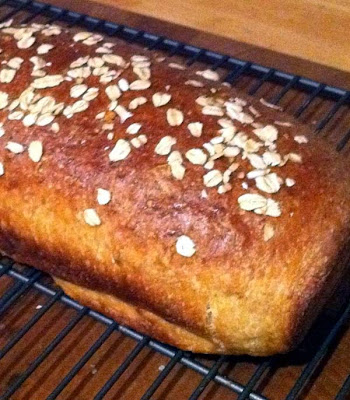 Sweet Oatmeal Bread Baked w/ Honey