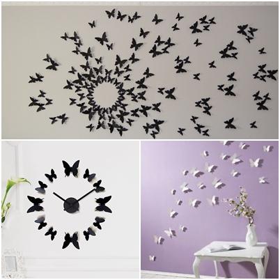 diary of shopaholics 3d schmetterlinge. Black Bedroom Furniture Sets. Home Design Ideas