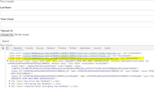 Default CSS of WFFM form