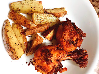 Allergy Friendly chicken and wedges