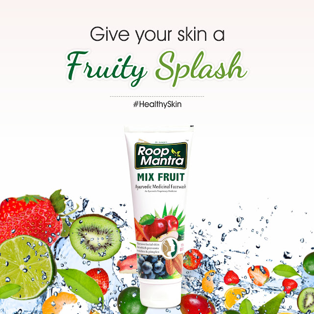 Roop Mantra Mix-Fruits Face Wash and get a Naturally Glowing Skin
