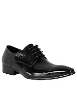 Aria Lace Up Dotted Oxford Shoes - Black