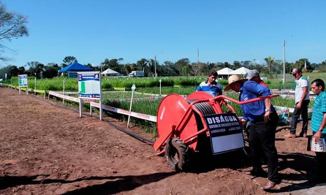 Sistema de irrigação móvel é apresentado pela primeira vez em feira de Rondônia