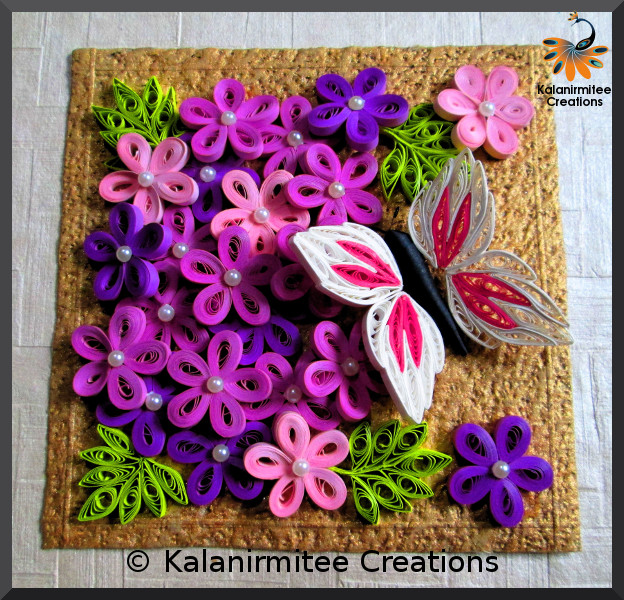 kalanirmitee: paper quilling- quilling project- quilled flowers- quilled butterfly-quilling ideas