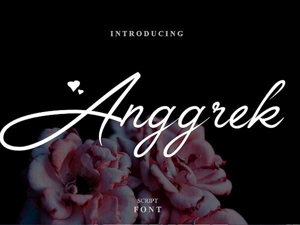 Anggrek - Feminine Script Font Free Download