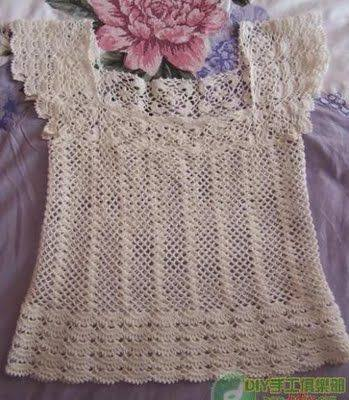 Patrón #847: Blusa a Crochet