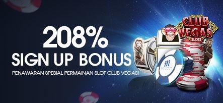 Bonus Daftar M88 208% CLUB VEGAS SLOTS