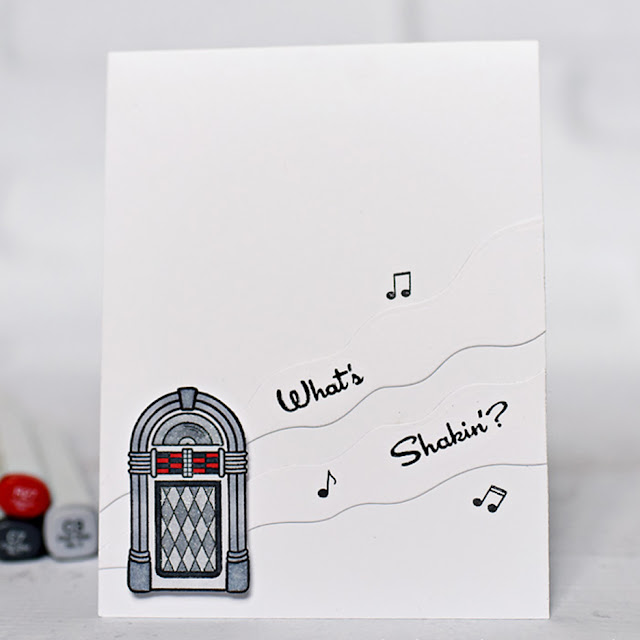 Sunny Studio Stamps: Sock Hop Jukebox Card by Melissa Chipperfield