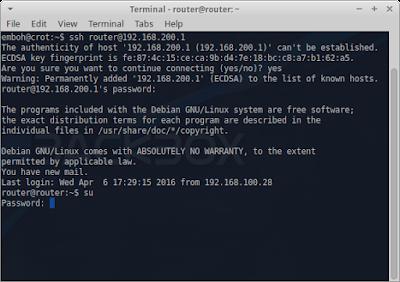 Setelah ditutup, buka terminal baru dan masuk ke server dengan ssh