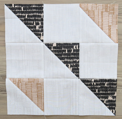 HST Quilt-Along - Formation block #6 - Carolyn Friedlander fabrics
