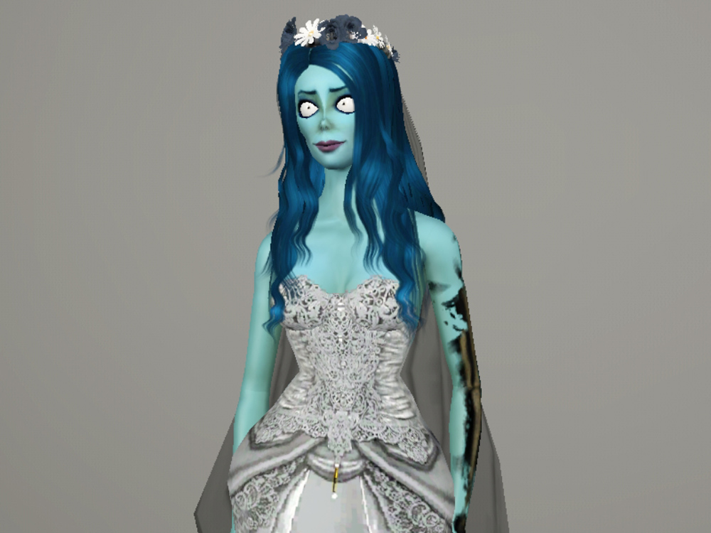 Corpse Bride Wedding Gown: Deathy Sims 3: Emily The Corpse Bride