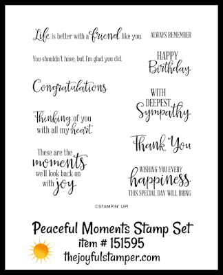 Stampin' Up! Peaceful Moments stamp set | Nicole Steele The Joyful Stamper