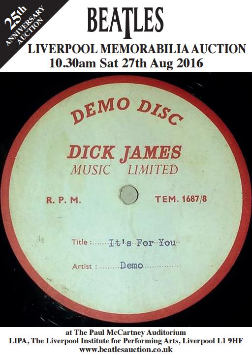 ポール・マッカートニーが歌う「It's For You」のデモレコードが約240万円で落札される