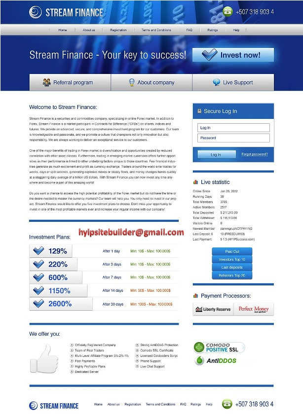 Create Hyip Site