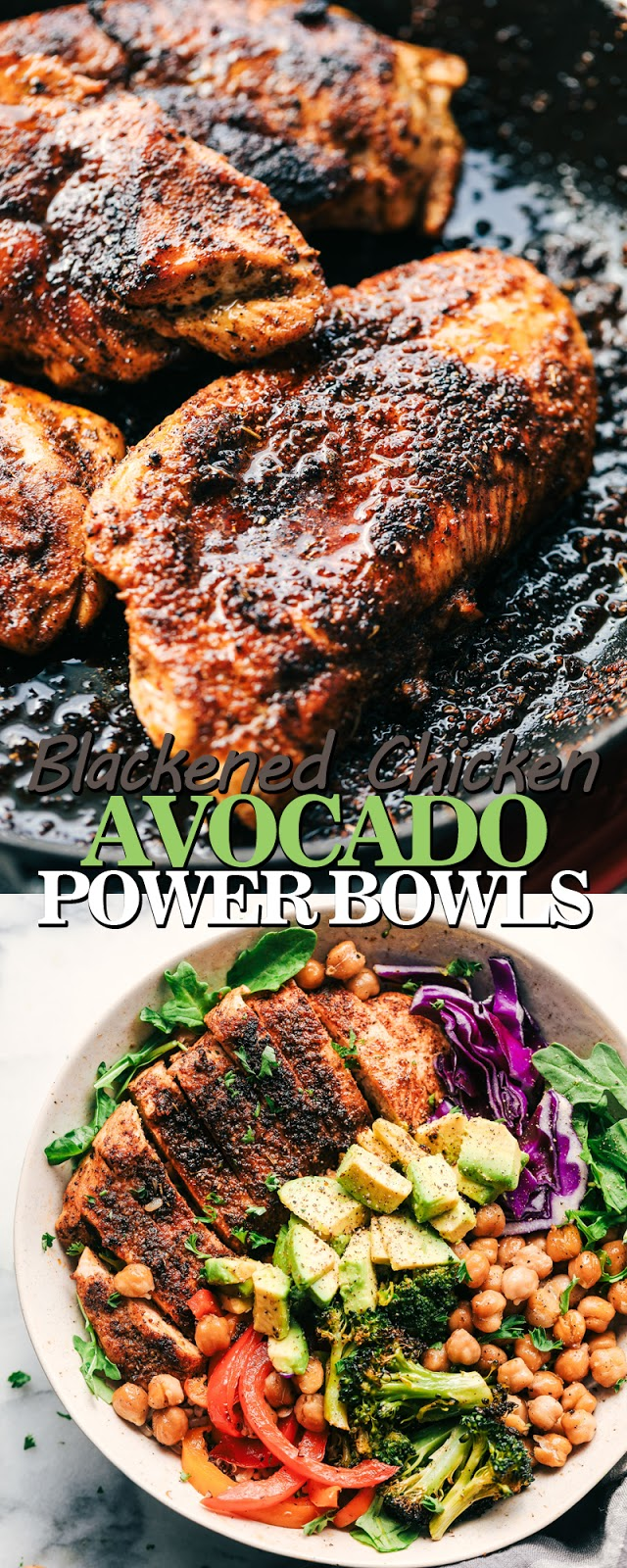 BLACKENED CHICKEN AVOCADO POWER BOWLS