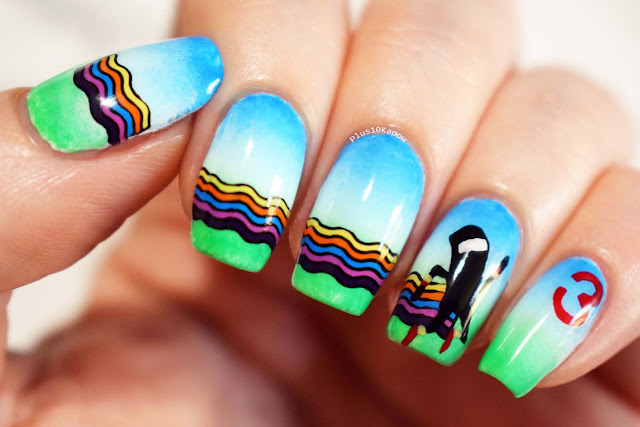 Bit Trip Runner 3 nerdy nails gamer playstation