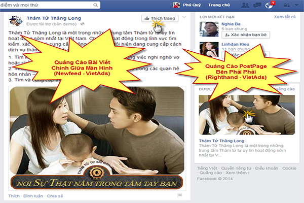tang like bai viet bang quang cao facebook