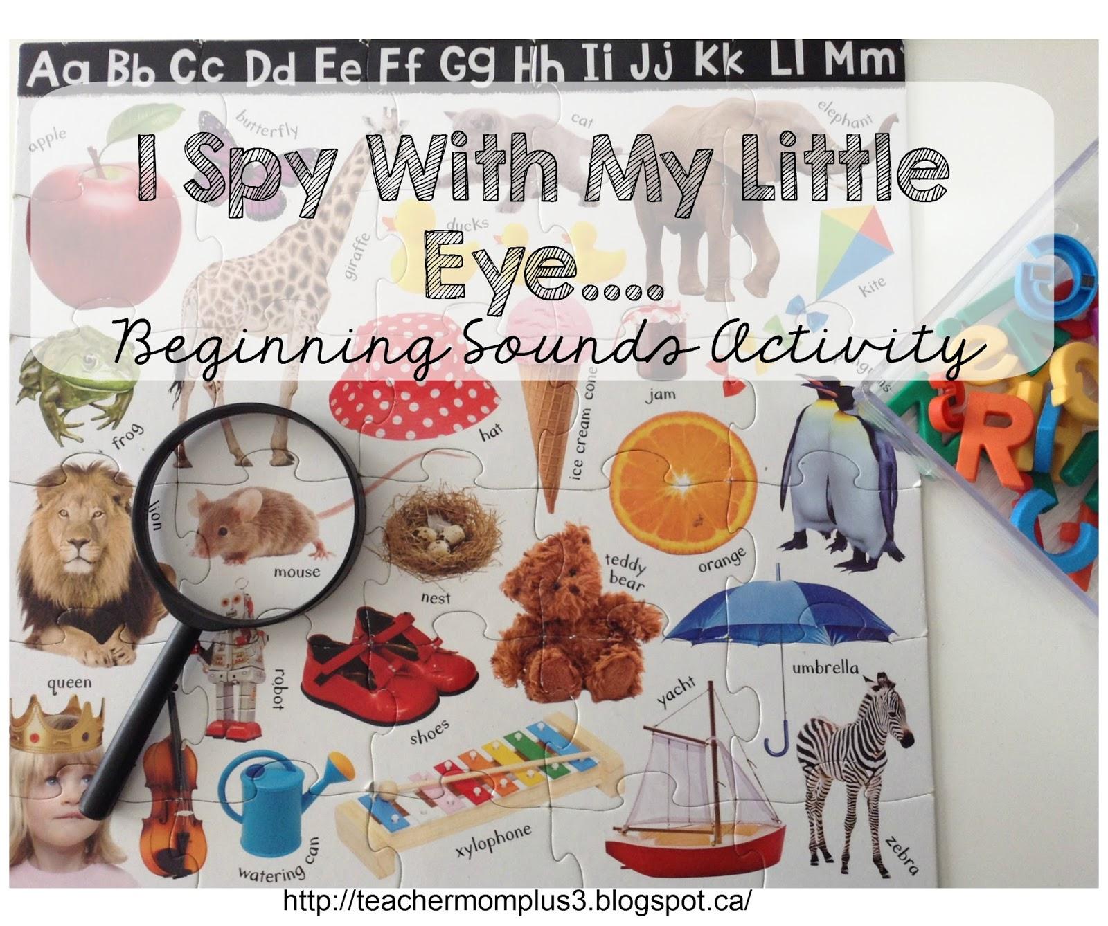 Teachermomplus3 I Spy Ginning Sound Practice