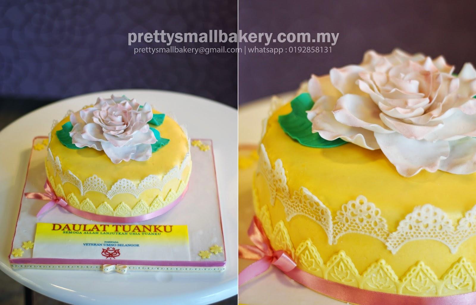 Kek Hari Jadi Sultan Selangor Prettysmallbakery