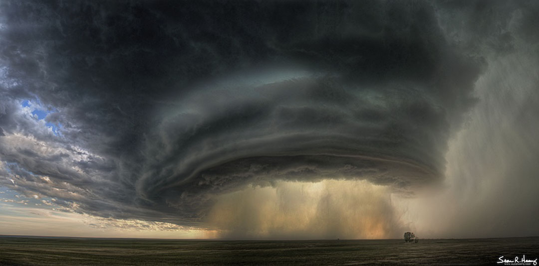 A Supercell Thunderstorm Cloud Over Montana by Sean R. Heavey