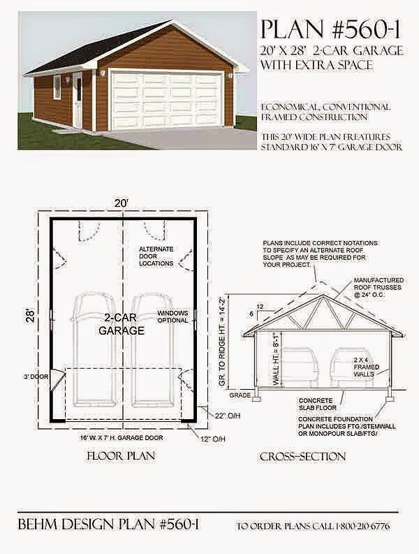 Garage Plans Blog Behm Design Garage Plan Examples Plan 5601 – 24 By 24 Garage Plans