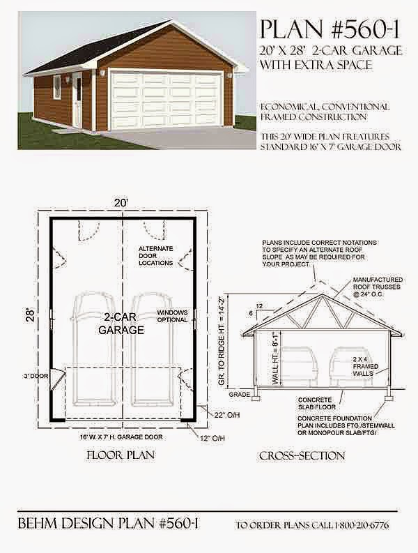 Garage Plans Blog Behm Design Garage Plan Examples Plan 5601 – 20 X 24 Garage Plans With Loft
