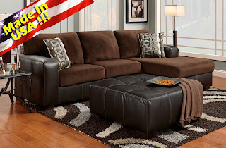 cumulus brown chocolate small sectional sleeper sofa chaise set