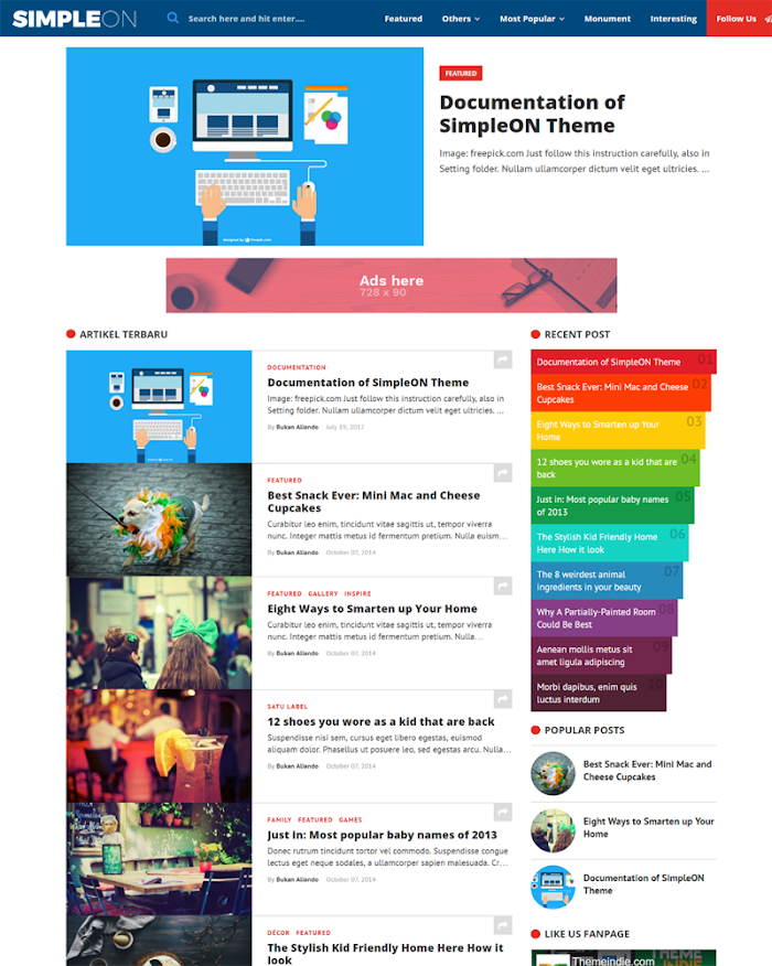 Simple On Blogger template responsive high CTR