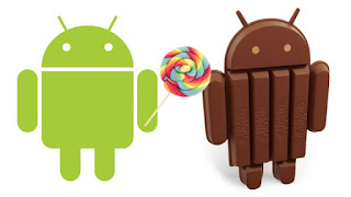 Perbedaan OS Kitkat dengan Lollipop
