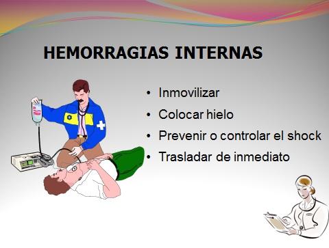 como parar una hemorragia interna