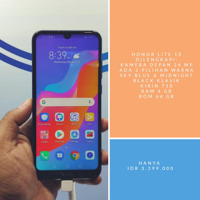 honor lite 10 smartphone murah dan canggih