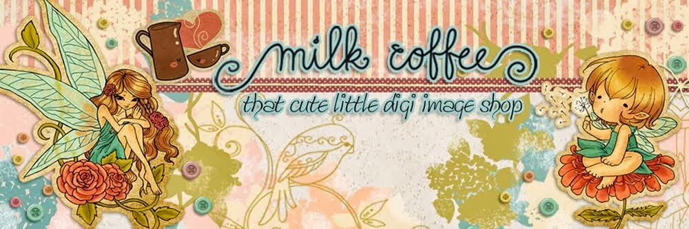 Milk Coffee Digi Stamps