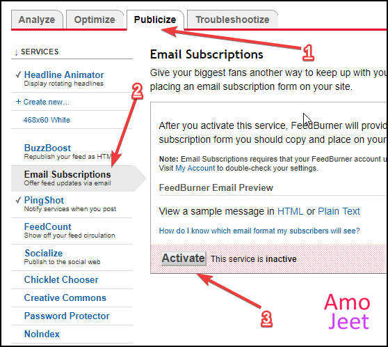 active-feedburner-email-subscription-service