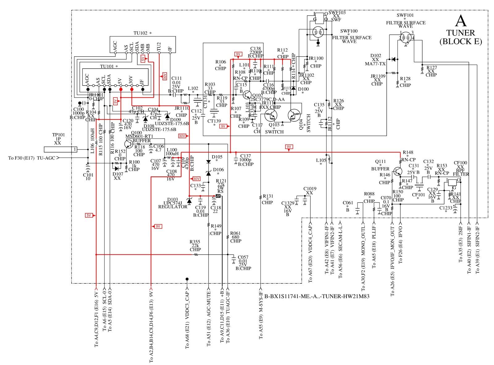Electro Help  Kv Hw21m50  U2013 Sony Trinitron Crt Tv  U2013 Circuit Diagram