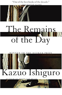 Imagem da capa do livro de Kazuo Ishiguro, The Remains of the day (ou Os Despojos do Dia, editado pela Gradiva), em recensão no blogue Clube de Leituras