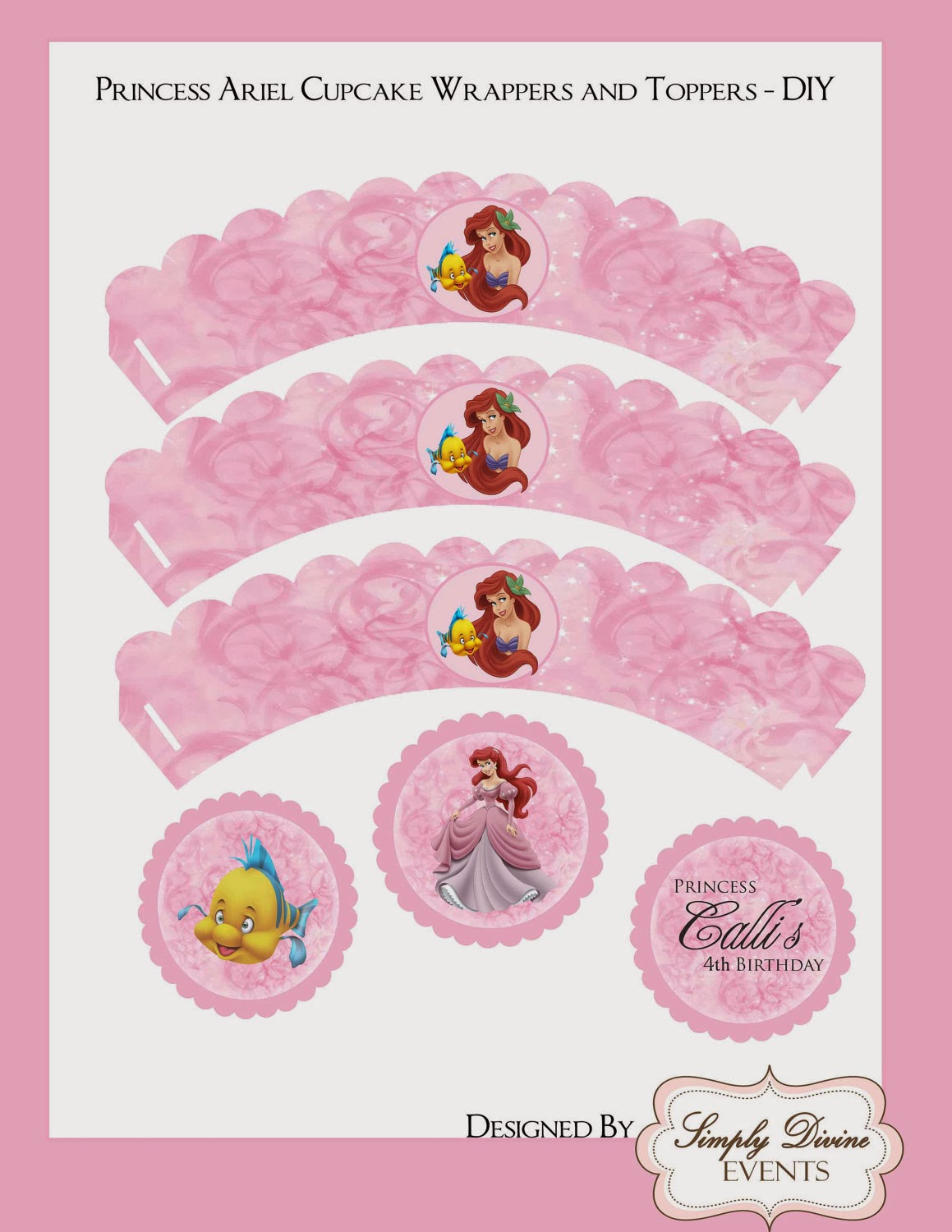 Little Mermaid Free Printable Wrappers And Toppers