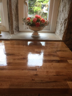 A coat of Danish Oil does wonders for worktops in the kitchen