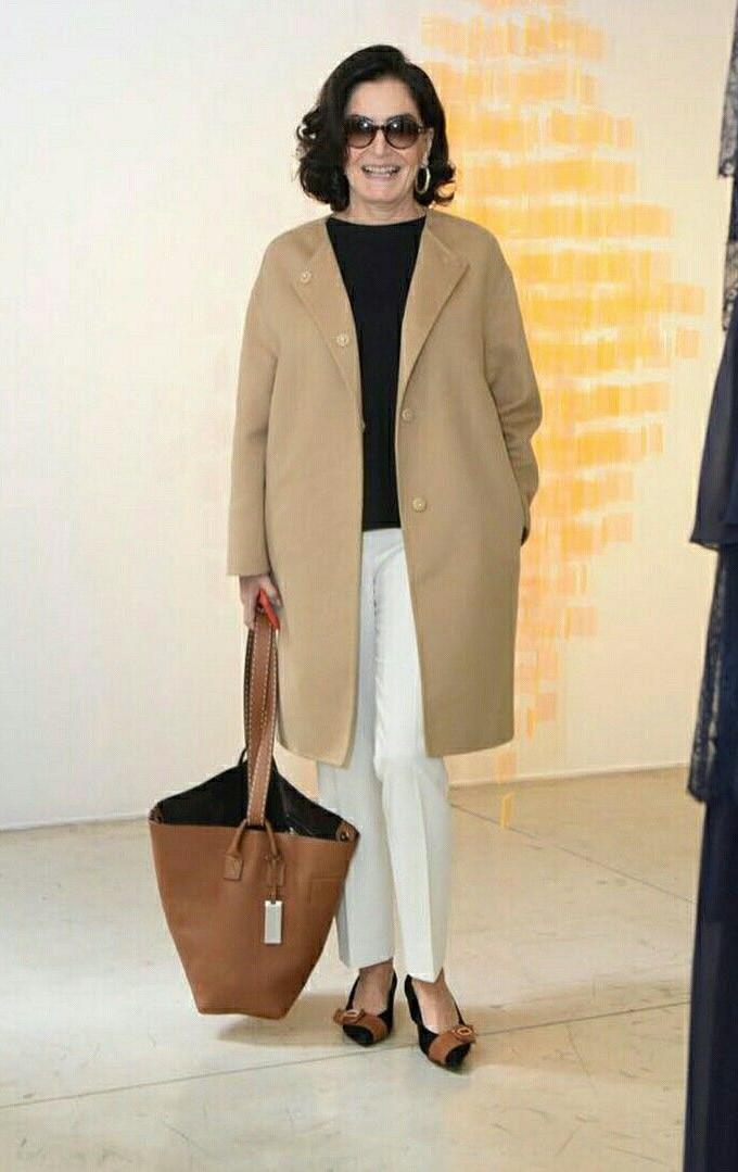 Gloria Kalil em moda para mulheres maduras