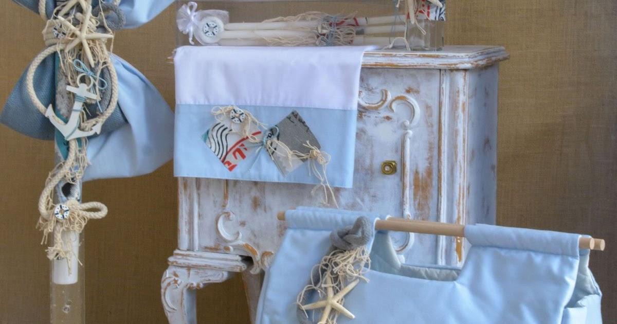 Starfish Greek Christening lampada set for boy CSB42 ...