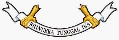 Pita bertuliskan semboyan Bhinneka Tunggal Ika - berbagaireviews.com