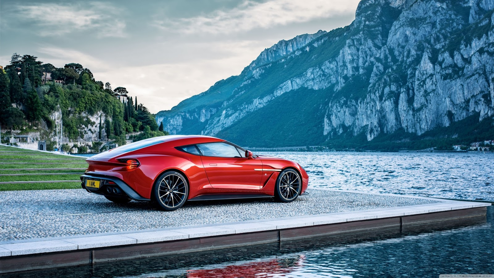 Aston Martin Sports Car Red   Wallpaper