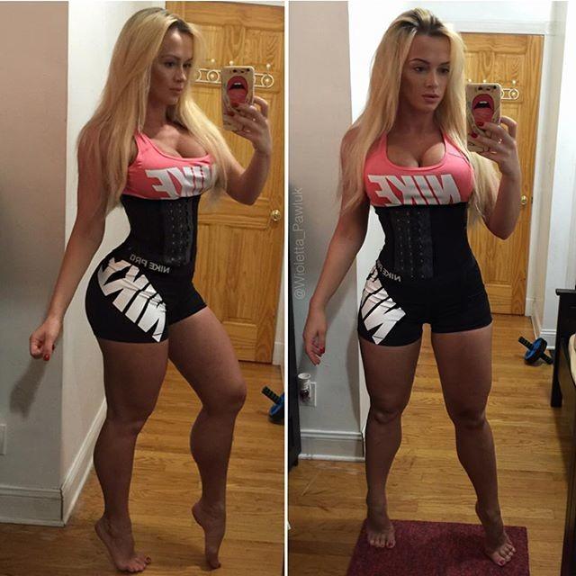 Fitness girl Wioletta Pawluk Instagram photos