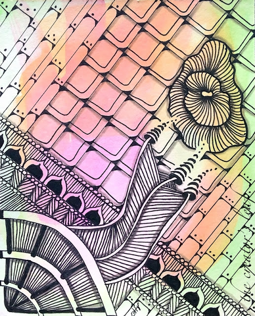 steampunk tangle art by Alice hendon
