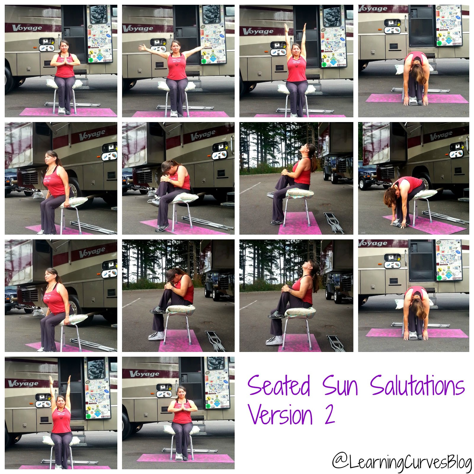 Learning Curves Modified Chair Yoga Sun Salutations With A Broken Ankle Version 2